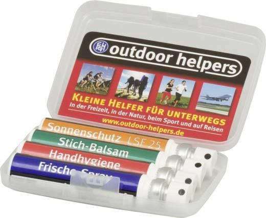 outdoor helper Set, Geruchskiller, Zecken- und Mückenschutz, Brillen- und Optikreiniger, Handhygiene
