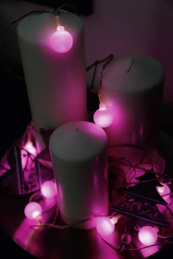 Polarlite 679998 Motiv-Lichterkette Kugeln Innen netzbetrieben 20 LED Lila Beleuchtete Länge: 5.7 m