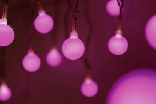 Motiv-Lichterkette Kugeln Innen netzbetrieben 20 LED Lila Beleuchtete Länge: 5.7 m Polarlite 679998