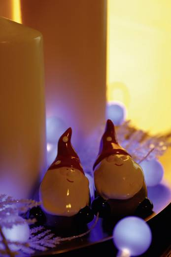 Motiv-Lichterkette Kugeln Innen netzbetrieben 20 LED Blau Beleuchtete Länge: 5.7 m Polarlite 684895