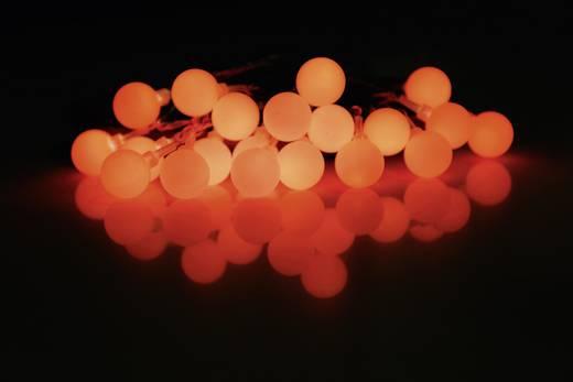 Motiv-Lichterkette Kugeln Innen netzbetrieben 20 LED Rot Beleuchtete Länge: 5.7 m Polarlite 684896