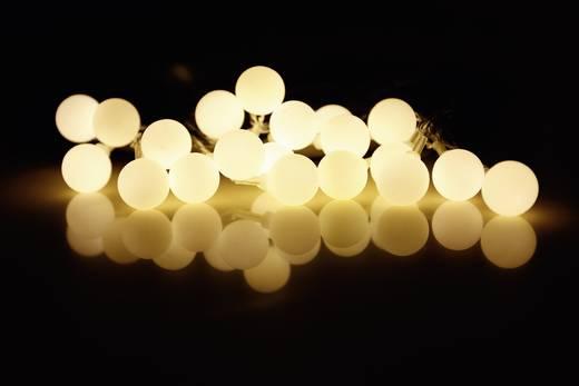 Motiv-Lichterkette Kugeln Innen netzbetrieben 20 LED Weiß Beleuchtete Länge: 5.7 m Polarlite 684898
