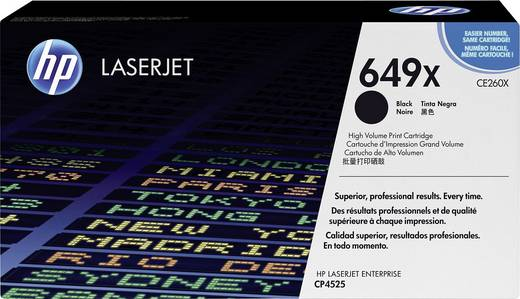 HP Toner 649X CE260X Original Schwarz 17000 Seiten