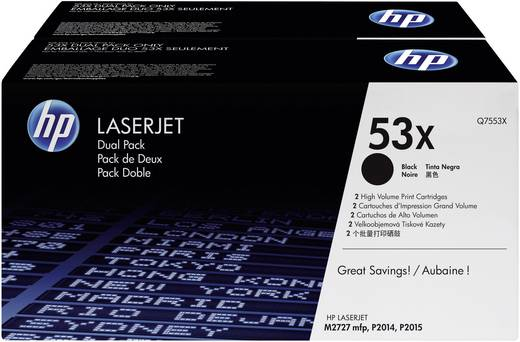 HP Toner 2er-Pack 53X Q7553XD Original Schwarz 7000 Seiten