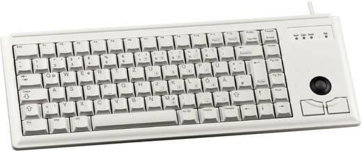 USB-Tastatur CHERRY Compact-Keyboard G84-4400 Grau Integrierter Trackball, Maustasten