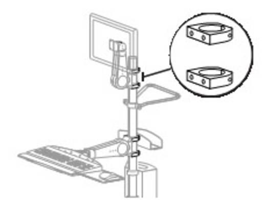 Befestigungsring Passend für Serie: Ergotron Mobile WorkStand Ergotron Aluminium
