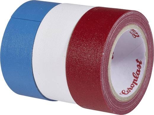 Gewebeklebeband Coroplast Blau, Rot, Weiß (L x B) 2.5 m x 19 mm Kautschuk Inhalt: 3 Rolle(n)