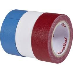 Sada textilních lepicích pásek Coroplast, 31081, 2,5 m x 19 mm, modrá/červená/bílá, 3 ks