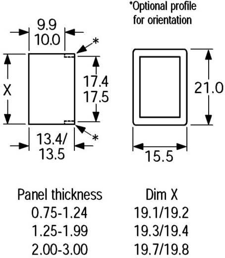 Wippschalter 250 V/AC 10 A 2 x Aus/Ein Arcolectric H880TVAAAA rastend 1 St.