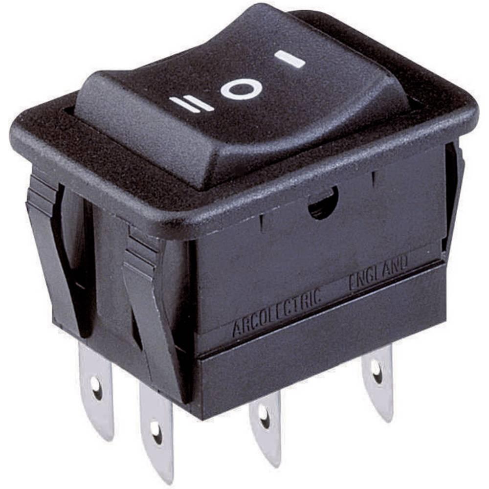 Wippschalter H8500VBAAF Schalter 1-polig EIN-AUS 10A 250V AC schwarz I//O 855225