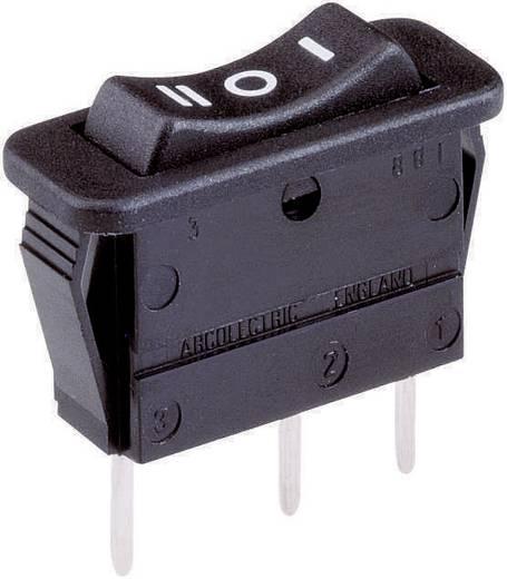 Wippschalter 250 V/AC 16 A 1 x (Ein)/Aus/(Ein) Arcolectric C 1522 VB AAB tastend/0/tastend 1 St.