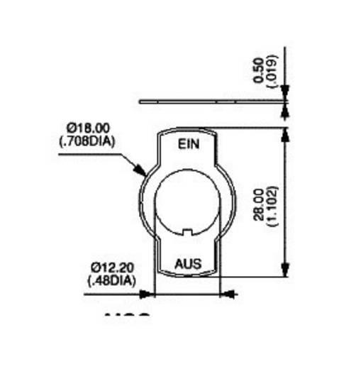 Bezeichnungsschild Aufdruck-Motiv EIN/AUS Schwarz APEM U99 / U99 1 St.