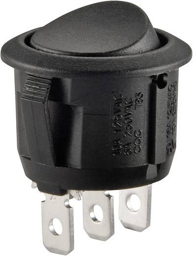 Wippschalter 250 V/AC 6 A 1 x Ein/Ein R13-112C B/B rastend 1 St.