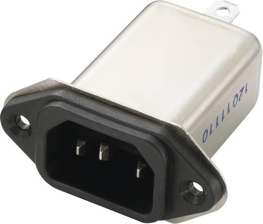 Netzfilter mit Kaltgerätebuchse 250 V/AC 6 A 0.7 mH (L x B x H) 58 x 52.3 x 25.25 mm Yunpen YB06A1-B 1 St.