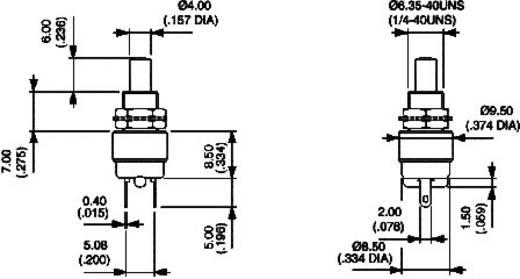 Drucktaster 30 V/DC 0.1 A 1 x Aus/(Ein) APEM 9633NCD tastend 1 St.