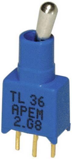 Kippschalter 20 V DC/AC 0.02 A 1 x Ein/Aus/Ein APEM TL39WW05000 / TL39WW05000 rastend/0/rastend 1 St.