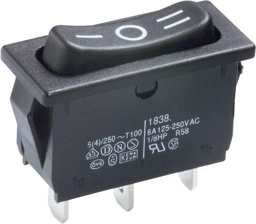 Wippschalter 250 V/AC 6 A 1 x Ein/Aus/Ein Marquardt 1838.1509 IP40 rastend/0/rastend 1 St.