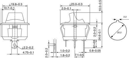 Kippschalter 250 V/AC 6 A 1 x Aus/Ein SCI R13-112LP-02 LED rastend 1 St.