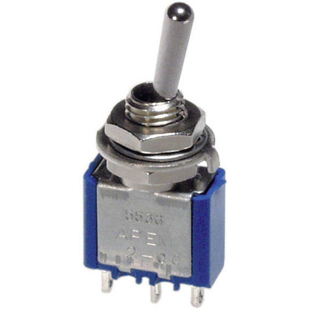Interrupteur à levier 1 x On/Off/On APEM 5539A 250 V/AC 3 A permanent/0/permanent 1 pc(s)