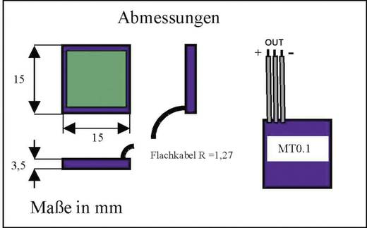 Kapazitiver Näherungsschalter MT0.1N-NR (L x B x H) 15 x 15 x 3.5 mm