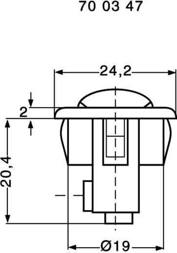 Wippschalter 250 V/AC 6 A 1 x Aus/Ein interBär 8014-109.01 rastend 1 St.