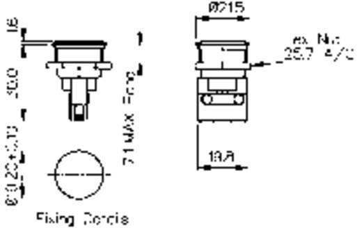 Vandalismusgeschützter Drucktaster 250 V/AC 5 A 1 x Aus/(Ein) Bulgin MP0031 IP66 tastend 1 St.