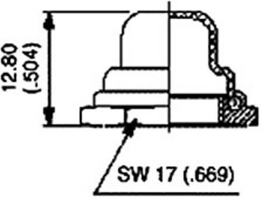 Dichtkappe Vernickelt, Schwarz APEM U31 / U31 1 St.