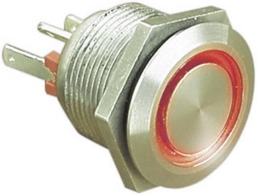 Vandalismusgeschützter Drucktaster 24 V/DC 0.05 A 1 x Aus/(Ein) Bulgin MPI002/28/RD IP66 tastend 1 St.