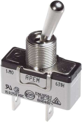 Kippschalter 250 V/AC 10 A 2 x Ein/Aus/Ein APEM 649NH/2 / 6493019 rastend/0/rastend 1 St.