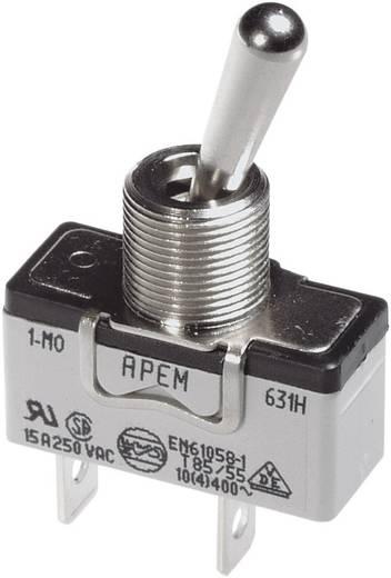 Kippschalter 250 V/AC 10 A 3 x (Ein)/Aus/(Ein) APEM 657H/2 / 6573676 tastend/0/tastend 1 St.