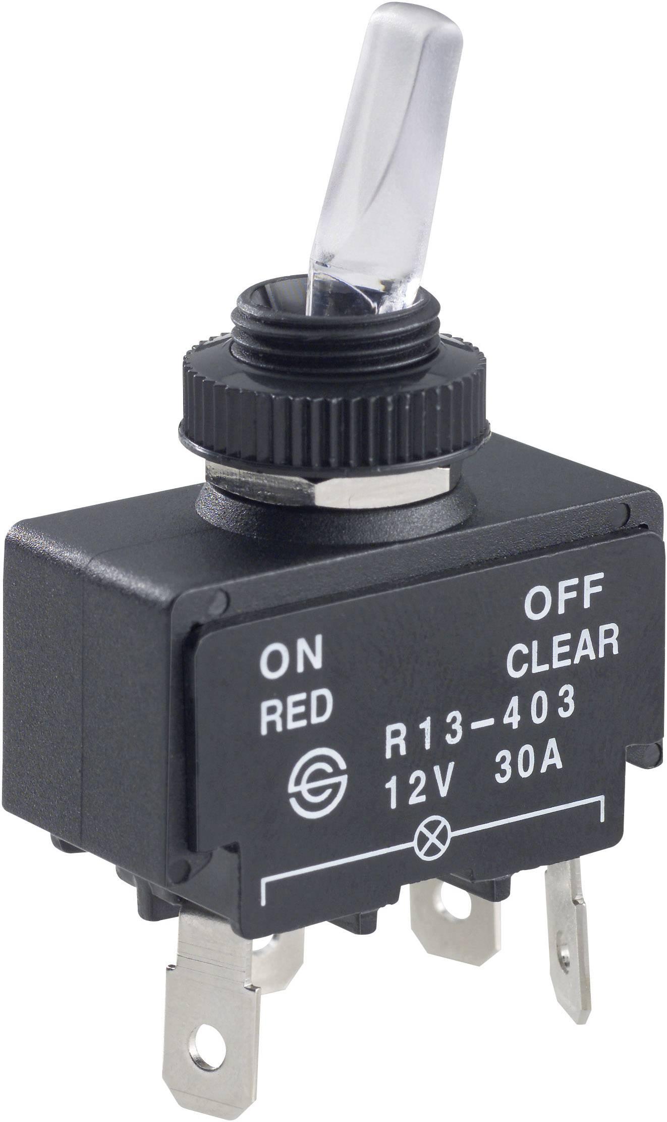 TRU COMPONENTS Wippschalter TC-R13-112B8W 12 V//DC 20 A 1 x Aus//Ein IP65 rastend