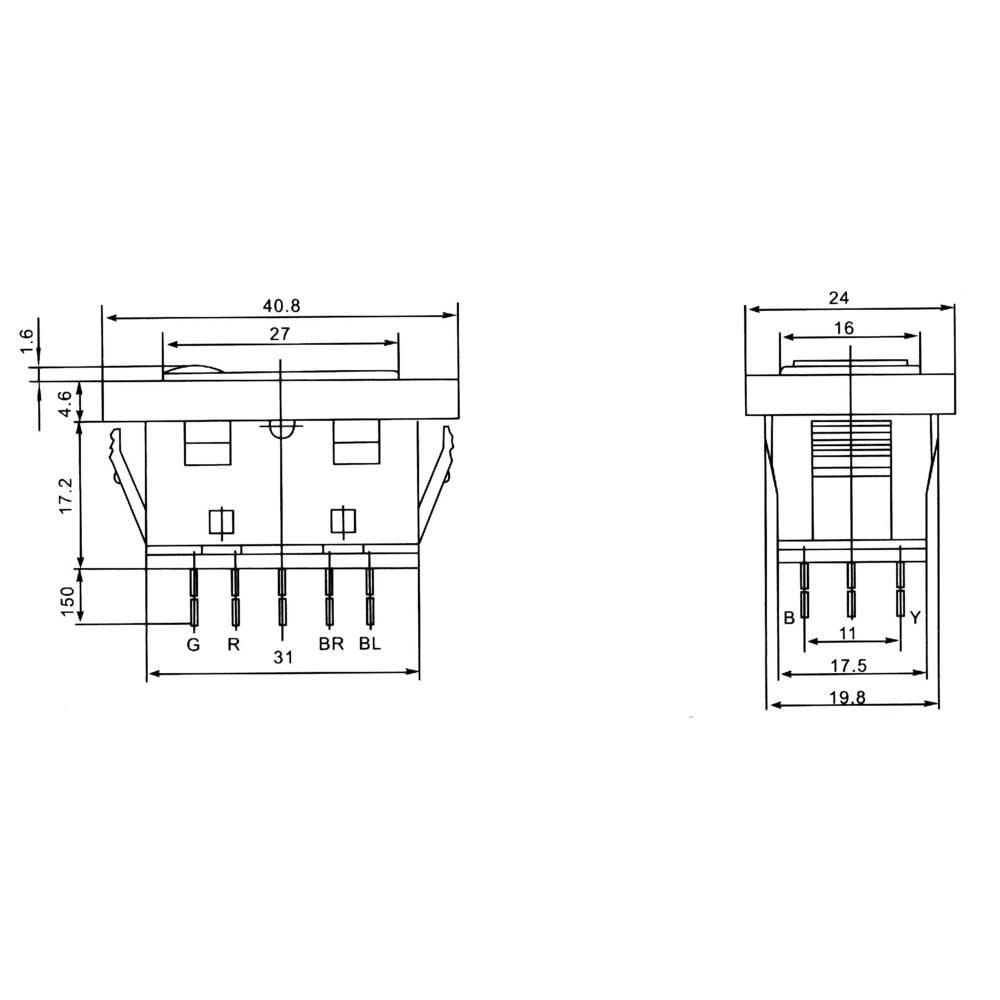 SCI Kfz-Wippschalter 28628C17 12 V/DC 20 A 2 x (Ein)/Aus/(Ein ...