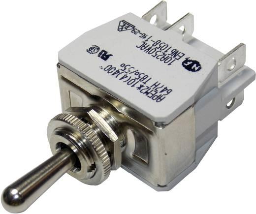 Kippschalter 250 V/AC 10 A 2 x (Ein)/Aus/(Ein) APEM 647H/2 / 6473676 tastend/0/tastend 1 St.