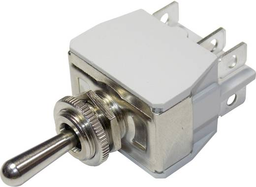 Kippschalter 250 V/AC 10 A 2 x Ein/Aus/Ein APEM 649H/2 / 6493676 rastend/0/rastend 1 St.