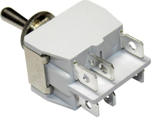 Kippschalter 250 V/AC 6 A 2 x Ein/Aus/Ein APEM 6-649H/2 / 6491074 rastend/0/rastend 1 St.