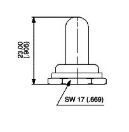 Dichtkappe Vernickelt, Schwarz APEM U851 / U851 1 St.