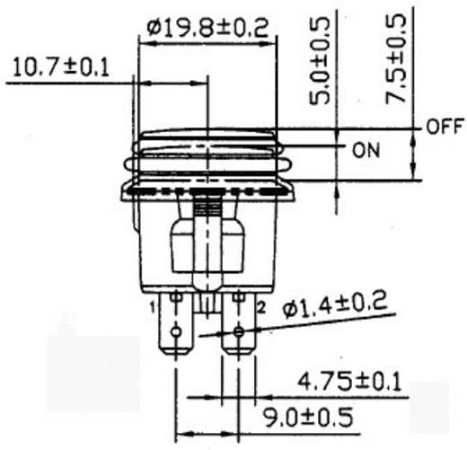 Druckschalter 14 V/DC 20 A 1 x Ein/Aus SCI R13-527D2B rastend 1 St.