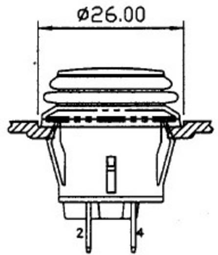 SCI R13-527D2B Druckschalter 14 V/DC 20 A 1 x Ein/Aus rastend 1 St.