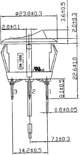Kfz-Wippschalter 12 V/DC 20 A 1 x Ein/Aus/Ein rastend/0/rastend SCI R13-112DL-02 1 St.