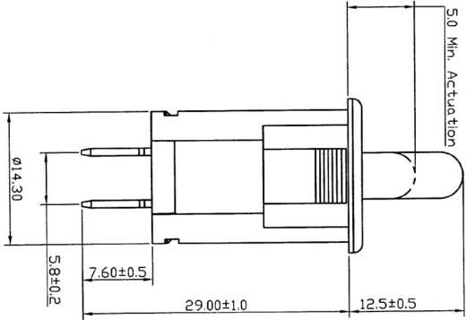 SCI R13-918 Drucktaster 250 V/AC 10 A 1 x Aus/(Ein) tastend 1 St.