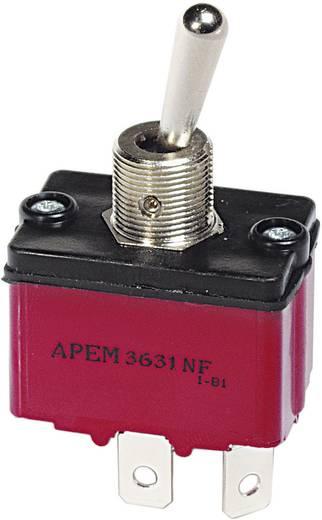 Kippschalter 250 V/AC 6 A 1 x (Ein)/Aus/(Ein) APEM 3637NF/2 / 36371200 tastend/0/tastend 1 St.