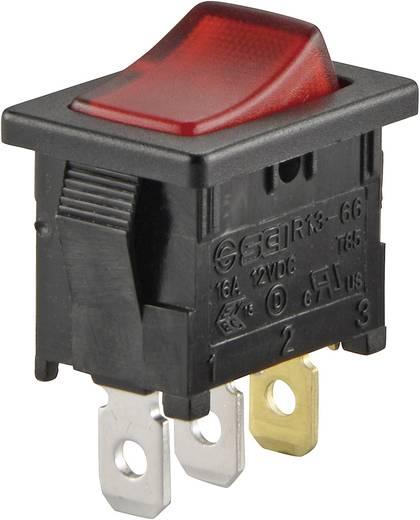 Wippschalter 250 V/AC 6 A 1 x Aus/Ein SCI R13-66B-02 LED 12V/DC rastend 1 St.