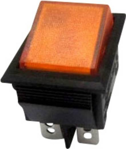Wippschalter 250 V/AC 10 A 2 x Aus/Ein SCI R13-69B-01 YE rastend 1 St.
