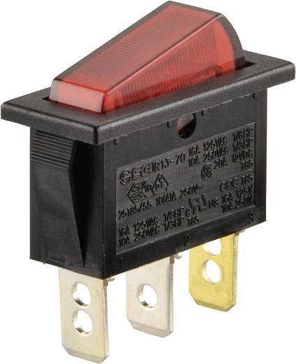 Wippschalter 250 V/AC 10 A 1 x Aus/Ein SCI R13-70B-01 rastend 1 St.