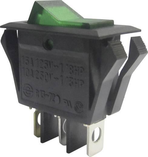 Wippschalter 250 V/AC 10 A 1 x Aus/Ein SCI R13-72B-01 rastend 1 St.
