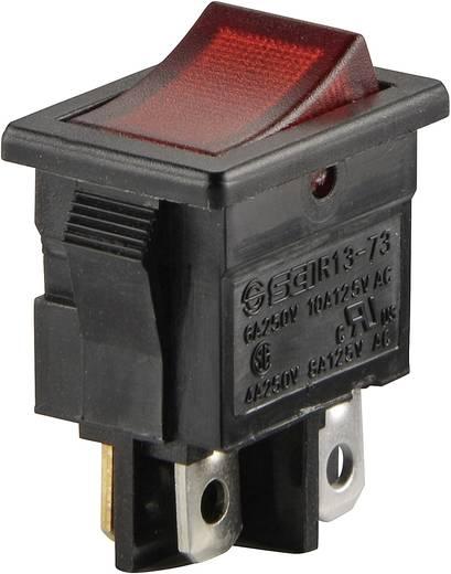 Wippschalter 250 V/AC 6 A 2 x Aus/Ein SCI R13-73C-02 rastend 1 St.