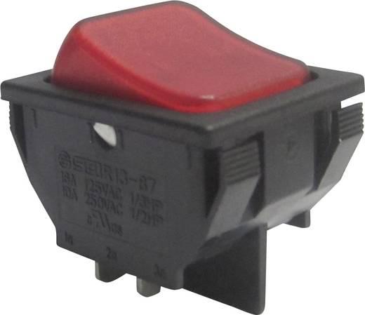 Wippschalter 250 V/AC 10 A 1 x Aus/Ein SCI R13-87B-02 rastend 1 St.