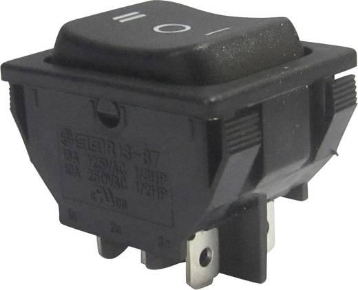 Wippschalter 250 V/AC 10 A 2 x Ein/Aus/Ein SCI R13-87D-02 rastend/0/rastend 1 St.