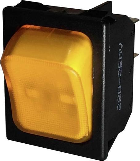 Wippschalter 250 V/AC 10 A 1 x Aus/Ein SCI R13-117B-01 rastend 1 St.