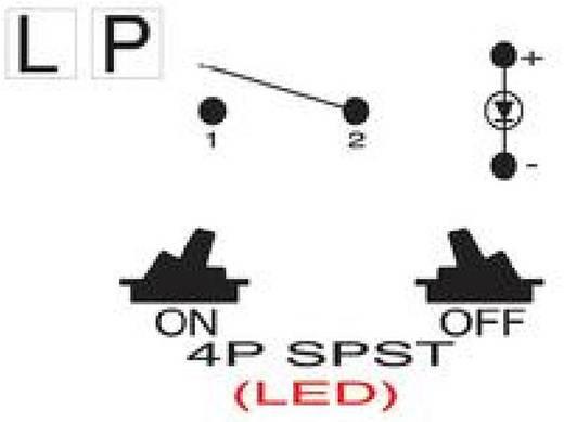 Wippschalter 250 V/AC 10 A 1 x Aus/Ein SCI R13-135LP-02 rastend 1 St.